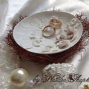 Свадебный салон handmade. Livemaster - original item Saucer for rings. Handmade.