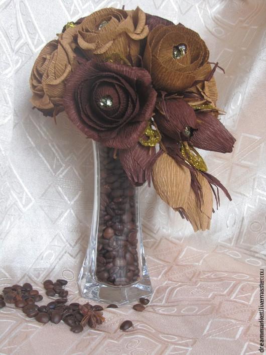 Букеты ручной работы. Ярмарка Мастеров - ручная работа. Купить Композиция на вазе. Handmade. Букет из конфет, сладкий подарок