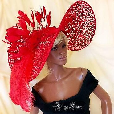 Аксессуары ручной работы. Ярмарка Мастеров - ручная работа Эксклюзивная кружевная шляпа от Olga Lace. Handmade.