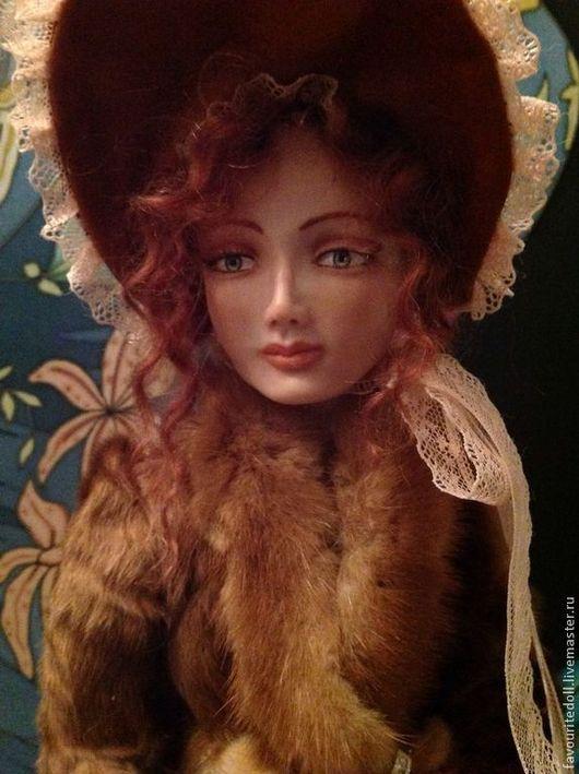 Коллекционные куклы ручной работы. Ярмарка Мастеров - ручная работа. Купить Барышня ( кукла в винтажном стиле). Handmade. Кремовый