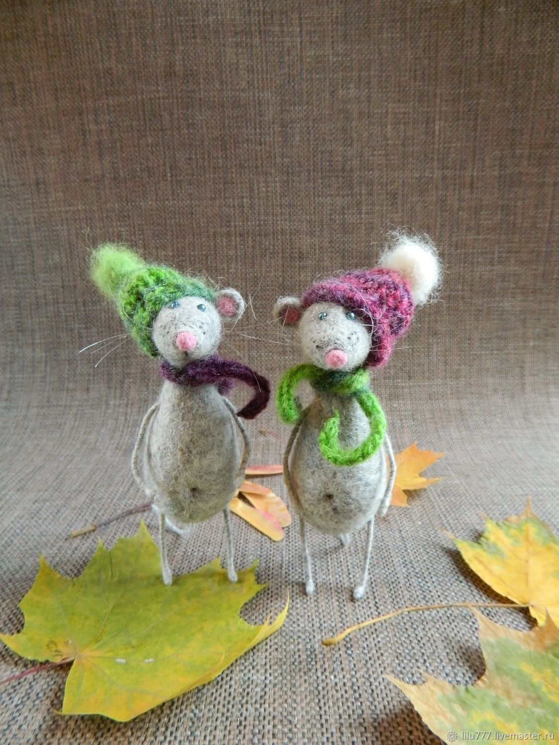 Mice felted mice mouse, Felted Toy, Ufa,  Фото №1
