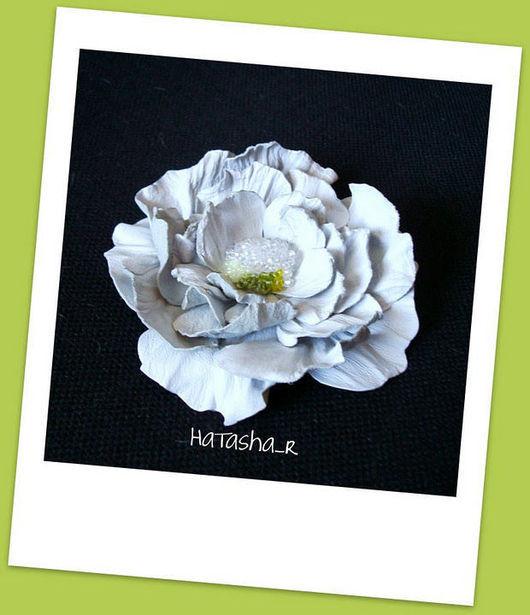 """Броши ручной работы. Ярмарка Мастеров - ручная работа. Купить Цветы из кожи. Брошь Роза """"Lovely Meilland"""". Handmade."""