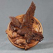 Panels handmade. Livemaster - original item Panels: Hawk with fish. Handmade.