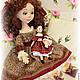 Коллекционные куклы ручной работы. Ярмарка Мастеров - ручная работа. Купить Белль и Изанна. Handmade. Бордовый, любимая игрушка