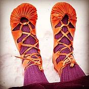 Тапочки ручной работы. Ярмарка Мастеров - ручная работа Поршни, сандалии, лапти. Handmade.