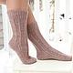 Носки вязаные женские. Носки из кашемира . Iris d`or