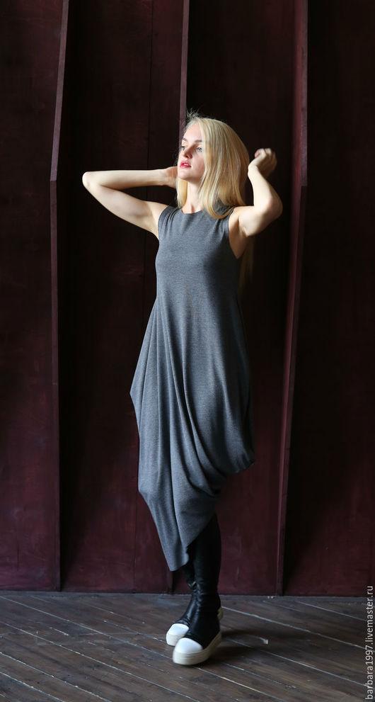 Платья ручной работы. Ярмарка Мастеров - ручная работа. Купить Платье ASYMMETRIC NEW LIGHT GREY. Handmade. Платье