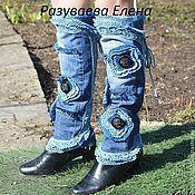 Обувь ручной работы. Ярмарка Мастеров - ручная работа джинсовые гетры. Handmade.