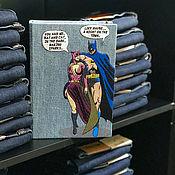 """Сумки и аксессуары handmade. Livemaster - original item Клатч-книга """"Бэтмен и Женщина-кошка"""". Handmade."""