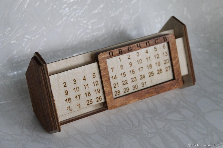 Handmade Calendar With Photos : Desktop perpetual calendar stand shop online on