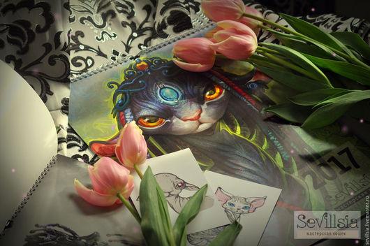 Handmade Сalendars handmade. Livemaster - handmade. Buy The A3 calendar for 2017, send FREE.Bright green, flowers