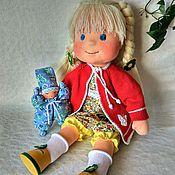 Куклы и игрушки ручной работы. Ярмарка Мастеров - ручная работа Кукла вальдорфская 48 см по мотивам Доброе солнышко. Handmade.