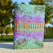 Cover handmade. Livemaster - original item Passport cover with Python skin business card section. Handmade.