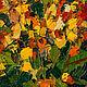 Картина импрессионизм Яркий букет в подарок Розы в вазе Картина розы в подарок Желтые красные розы Картина с цветами в подарок