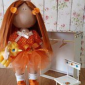 Куклы и игрушки ручной работы. Ярмарка Мастеров - ручная работа Текстильная интерьерная рыженькая куколка ручной работы.. Handmade.