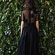 платье, черное платье, вечернее платье, платье в пол