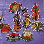 Сувениры и подарки handmade. Livemaster - original item Magnets: Christmas ringtones, collection. Handmade.