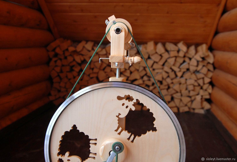 Другие виды рукоделия ручной работы. Ярмарка Мастеров - ручная работа. Купить Прялка Скай Овечки. Handmade. Прялка, фанера
