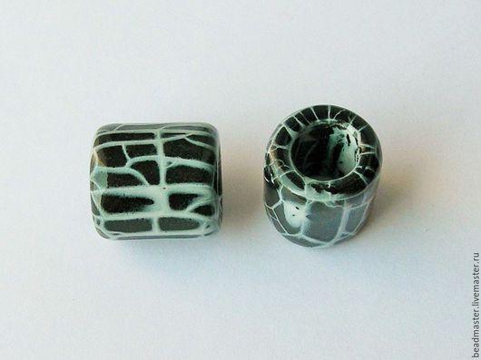 Для украшений ручной работы. Ярмарка Мастеров - ручная работа. Купить Бусина,керамическая,отверстие 10 мм,БКЖ2. Handmade.