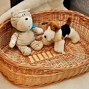 Для домашних животных, ручной работы. Ярмарка Мастеров - ручная работа ЭКО лежанка для собаки или кошки плетёная из ивовой лозы handmade. Handmade.