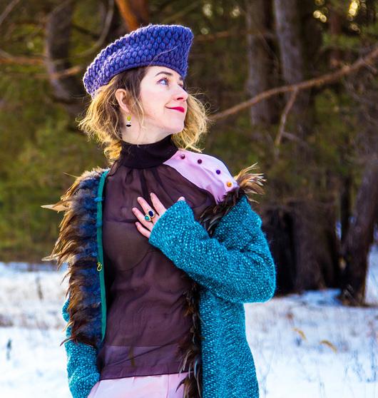 Блузки ручной работы. Ярмарка Мастеров - ручная работа. Купить Розовый рукавчик - блузка. Handmade. Коричневый, блуза, шифоновая блузка