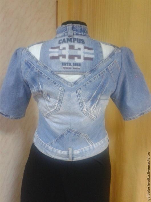 Пиджаки, жакеты ручной работы. Ярмарка Мастеров - ручная работа. Купить Джинсовая летняя курточка. Handmade. Синий, джинсовая фантазия