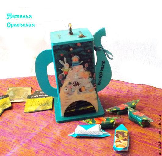 """Кухня ручной работы. Ярмарка Мастеров - ручная работа. Купить Чайный домик """"Алиса в стране чудес"""". Handmade. Тёмно-бирюзовый"""