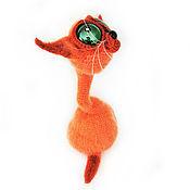 Куклы и игрушки handmade. Livemaster - original item Crochet toy crochet cat Red charming interior Decoration. Handmade.