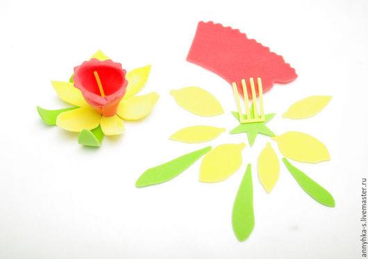 """Ткань для цветов ручной работы. Ярмарка Мастеров - ручная работа. Купить Вырубка из фоамирана """" Нарцисс """". Handmade. Вырубка"""