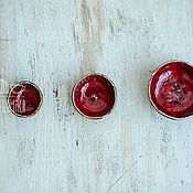 Посуда ручной работы. Ярмарка Мастеров - ручная работа Набор из 3 красных керамических мисок. Handmade.