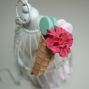 Украшения handmade. Livemaster - original item Barrette clip Sweet horn.. Handmade.