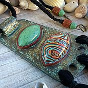 Украшения handmade. Livemaster - original item Shaman. pendant from polymer clay. Boho pendant.. Handmade.