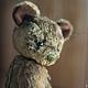Мишки Тедди ручной работы. Ярмарка Мастеров - ручная работа. Купить Флокки (19 см). Handmade. Оливковый, мини-мишка