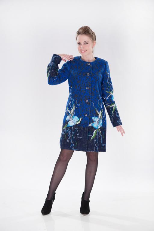 Верхняя одежда ручной работы. Ярмарка Мастеров - ручная работа. Купить ПС 06. Handmade. Тёмно-синий, стильные вещи