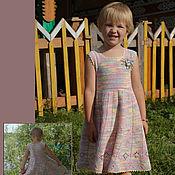 Работы для детей, ручной работы. Ярмарка Мастеров - ручная работа Платье летнее, вязанное крючком. Handmade.