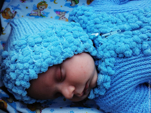 """Для новорожденных, ручной работы. Ярмарка Мастеров - ручная работа. Купить Конверт для новорожденного """"Нежное облако"""". Handmade. Голубой"""