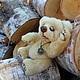 Мишки Тедди ручной работы. Персик (мишка Тедди). Марина Рыбчинская (куклы и мишки). Ярмарка Мастеров. Авторская работа, пластик