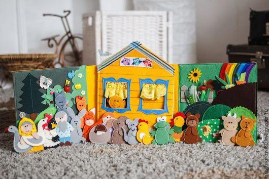 """Развивающие игрушки ручной работы. Ярмарка Мастеров - ручная работа. Купить Книжка """"Сказки"""". Handmade. Сказки, развивающая книжка, театрализация"""