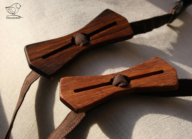 Бабочка-галстук из дерева своими руками 13