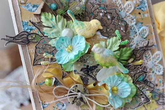 """Открытки на все случаи жизни ручной работы. Ярмарка Мастеров - ручная работа. Купить Крафт-открытка """"Маленькие птицы"""". Handmade. поздравление"""