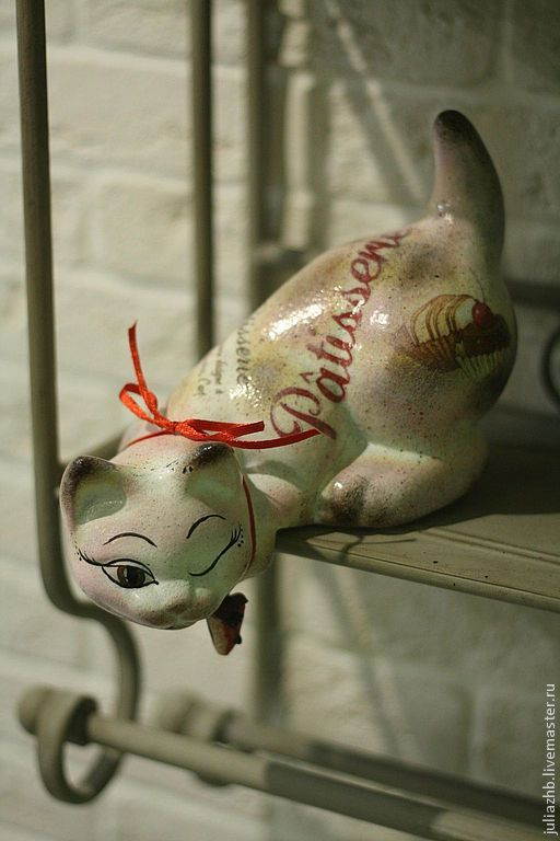 Caramels, bonbons et chocolats - (ceramic cat), Figurines, Sergiev Posad,  Фото №1