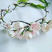 Аксессуары ручной работы. Ярмарка Мастеров - ручная работа Венок для невесты. Когда сады цветут в душе. Handmade.