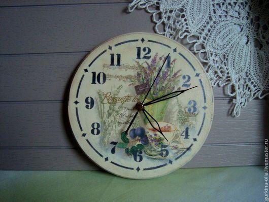 """Часы для дома ручной работы. Ярмарка Мастеров - ручная работа. Купить Часы """" Натюрморт с лавандой"""". Handmade. Прованс"""