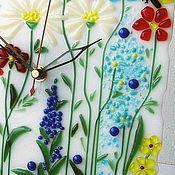 """Для дома и интерьера ручной работы. Ярмарка Мастеров - ручная работа Часы для детской """"Волшебные часики"""", фьюзинг, стекло. Handmade."""