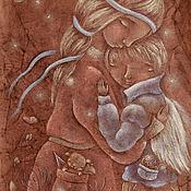 Картины и панно ручной работы. Ярмарка Мастеров - ручная работа В твоем кармашке целый Мир... Картина пастелью мама и сын.. Handmade.