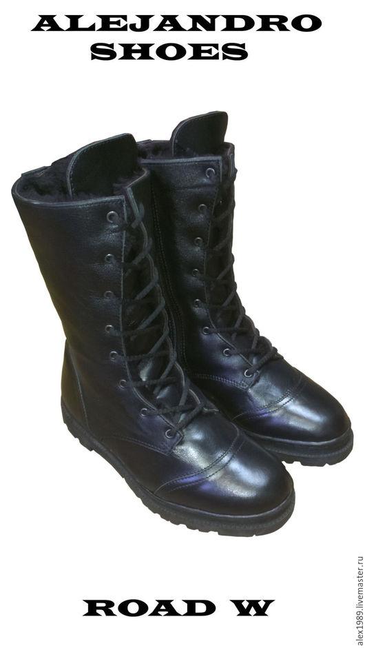 """Обувь ручной работы. Ярмарка Мастеров - ручная работа. Купить Женские берцы """"Road W"""". Handmade. Черный, берцы"""