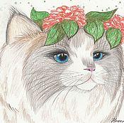 Картины и панно handmade. Livemaster - original item My cat Marusya. Handmade.