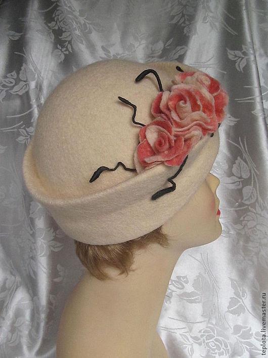 """Шляпы ручной работы. Ярмарка Мастеров - ручная работа. Купить шляпка валяная """" Светлана"""". Handmade. Шляпка валяная"""