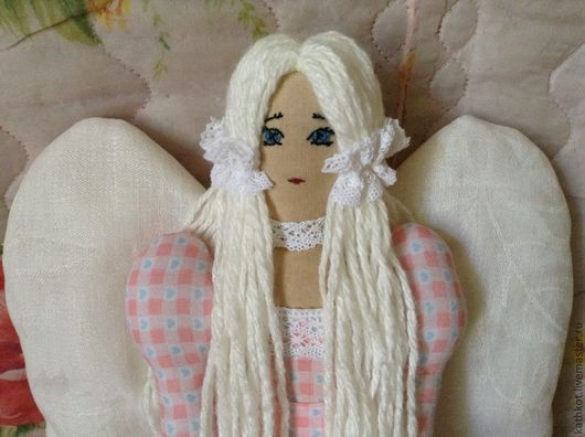 Куклы Тильды ручной работы. Ярмарка Мастеров - ручная работа. Купить Текстильная кукла тильда Ангелочек. Handmade. Кукла