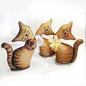 Куклы и игрушки ручной работы. Ярмарка Мастеров - ручная работа Кофейная интерьерная кошечка - подарок подруге, маме, доченьке. Handmade.